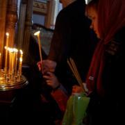 Праздник благовещения в храме Марии Магдалины